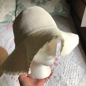 Ivory floppy sun hat